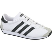 Shoes Children Low top trainers adidas Originals Country OG G White, Black