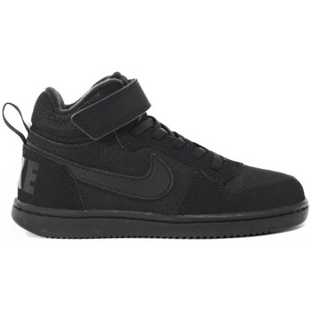 Shoes Children Hi top trainers Nike Court Borough Mid Psv Black