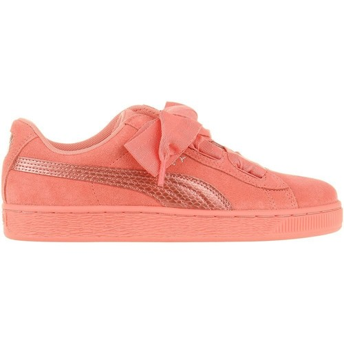 Shoes Girl Low top trainers Puma Suede Heart Snk JR Pink