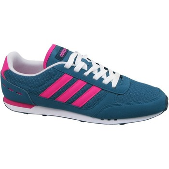 Shoes Women Low top trainers adidas Originals City Racer W Blue, Pink