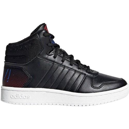 Shoes Children Hi top trainers adidas Originals Hoops Mid 20 K White,Black
