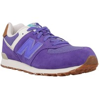 Shoes Children Low top trainers New Balance KL574EUG Purple