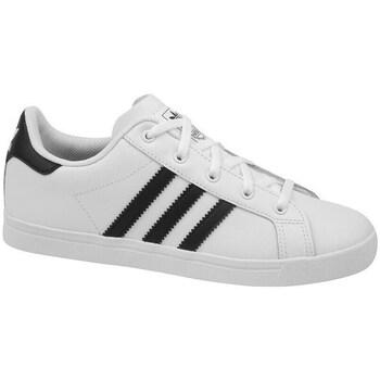 Shoes Children Low top trainers adidas Originals Coast Star C White, Black