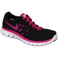 Shoes Girl Running shoes Nike Flex 2013 RN GS Black, Pink