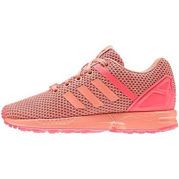 Shoes Girl Low top trainers adidas Originals ZX Flux Split K Orange