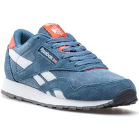 Shoes Boy Low top trainers Reebok Sport CL Nylon Washed Junior Blue