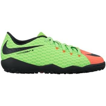 Shoes Children Football shoes Nike Junior Hypervenomx Phelon Iii TF Black,Green,Orange