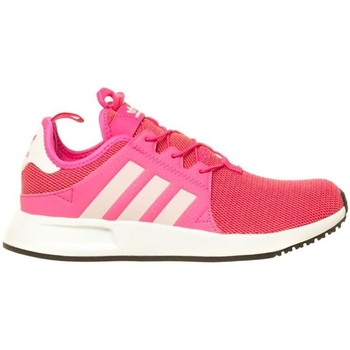 Shoes Girl Low top trainers adidas Originals Xprl J White,Pink