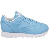 Shoes Women Low top trainers Reebok Sport Leather Seasonal White, Light blue