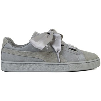Shoes Women Low top trainers Puma Suede Heart Pebble Wns Grey