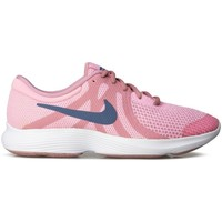 Shoes Girl Low top trainers Nike Revolution 4 GS White, Blue, Pink