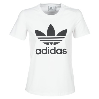 Clothing Women short-sleeved t-shirts adidas Originals TREFOIL TEE White
