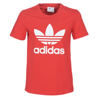 Clothing Women Short-sleeved t-shirts adidas Originals TREFOIL TEE Red