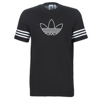 Clothing Men Short-sleeved t-shirts adidas Originals OUTLINE TEE Black