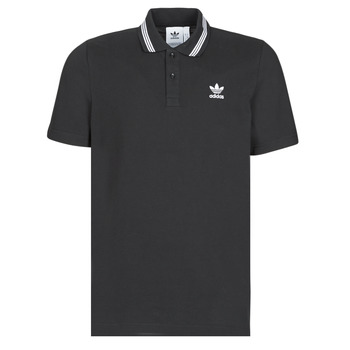Clothing Men short-sleeved polo shirts adidas Originals PIQUE POLO Black