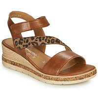 Shoes Women Sandals Remonte Dorndorf HERNENDEZ Cognac / Leopard