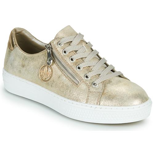 Shoes Women Low top trainers Rieker LIROS Gold