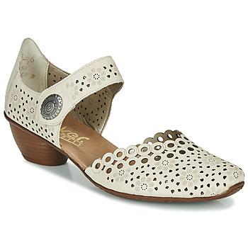 Shoes Women Heels Rieker KIRIN Beige