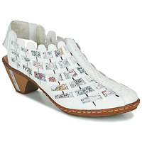 Shoes Women Shoe boots Rieker KANIN White / Multicoloured