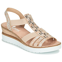 Shoes Women Sandals Rieker NOCKS Pink