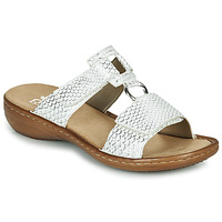 Shoes Women Mules Rieker MOLLY Silver