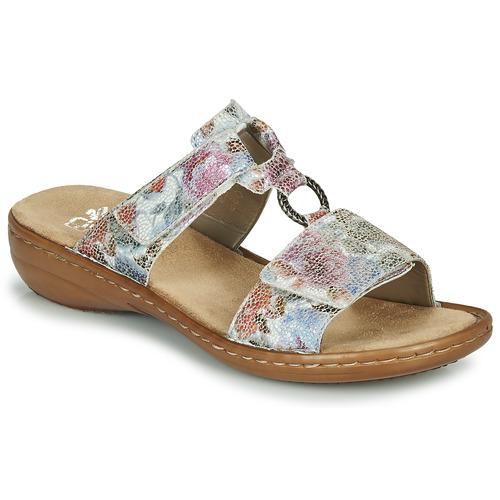 Shoes Women Mules Rieker MOLA Multicoloured
