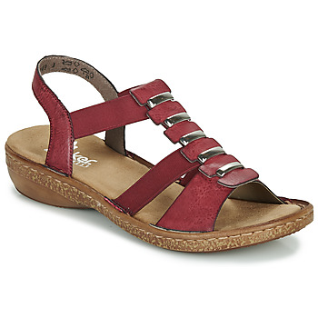 Shoes Women Sandals Rieker RONEX Red