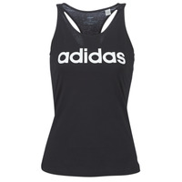 Clothing Women Tops / Sleeveless T-shirts adidas Performance E LIN SLIM TK Black
