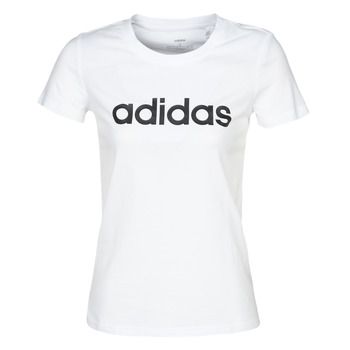 Clothing Women short-sleeved t-shirts adidas Performance E LIN SLIM T White