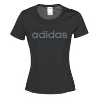 Clothing Women short-sleeved t-shirts adidas Performance D2M LO TEE Black
