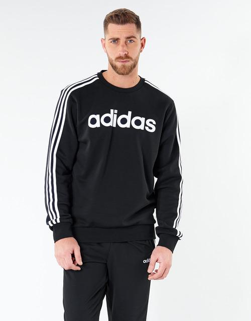Clothing Men sweaters adidas Performance E 3S CREW FL Black