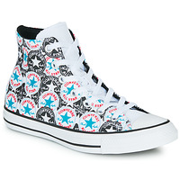 Shoes Women Hi top trainers Converse Chuck Taylor All Star Logo Play White / Black / Multi