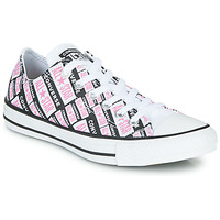 Shoes Women Hi top trainers Converse CHUCK TAYLOR ALL STAR LOGO PLAY White / Pink / Black