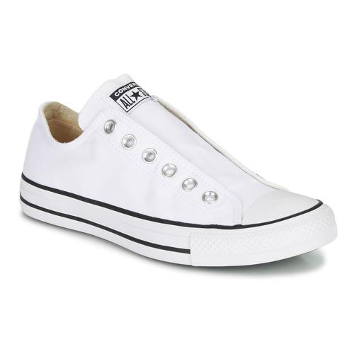Shoes Women Slip-ons Converse CHUCK TAYLOR ALL STAR SLIP CORE BASICS White