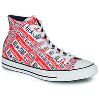 Shoes Men Hi top trainers Converse CHUCK TAYLOR ALL STAR LOGO PLAY Red / Multi