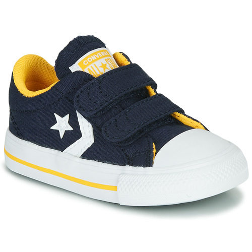 Shoes Boy Low top trainers Converse Star Player 2V Varsity Canvas Blue