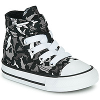Shoes Boy Hi top trainers Converse CHUCK TAYLOR ALL STAR 1V SHARK BITE Black / Multi