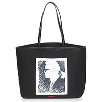 Bags Shopping Bags / Baskets Karl Lagerfeld KARL LEGEND CANVAS TOTE Black