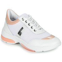 Shoes Women Low top trainers Love Moschino RUN LOVE White / Pink