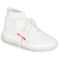Shoes Women Hi top trainers Love Moschino JA15165GOA White