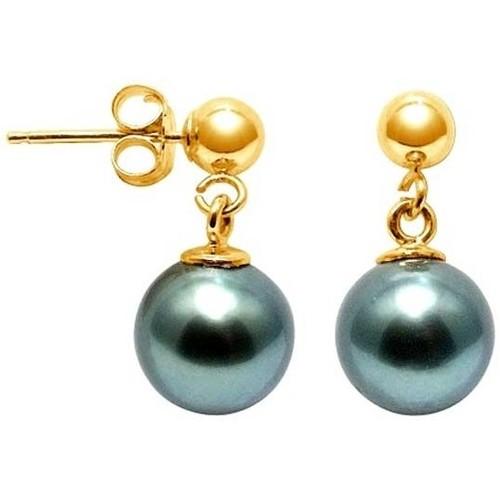 Watches Women Earrings Blue Pearls BPS K621 W Gold
