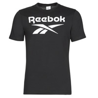 Clothing Men Short-sleeved t-shirts Reebok Classic GS REEBOK STACKED T Black