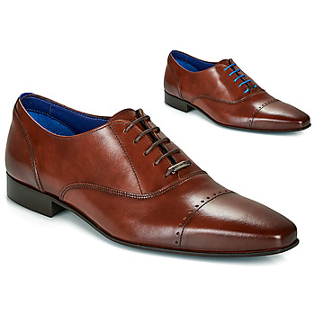 Shoes Men Brogues Azzaro DOGME Cognac