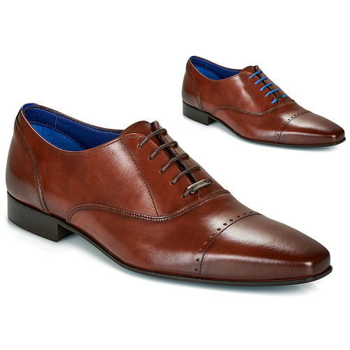 Shoes Men Brogues Azzaro DOGME Cognac
