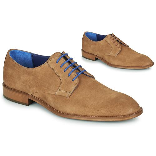 Shoes Men Derby Shoes Azzaro ZENOU Cognac