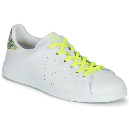 Shoes Women Low top trainers Victoria TENIS PIEL FLUO White / Yellow