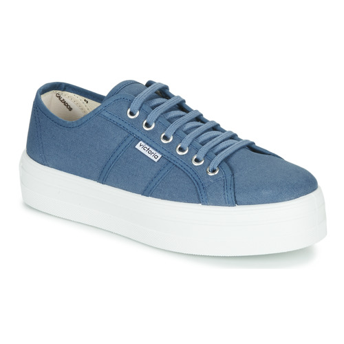 Shoes Women Low top trainers Victoria BARCELONA LONA Blue