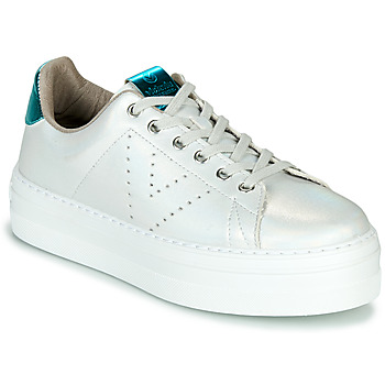 Shoes Women Low top trainers Victoria BARCELONA METAL White
