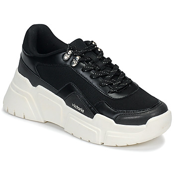 Shoes Women Low top trainers Victoria TOTEM Black / White
