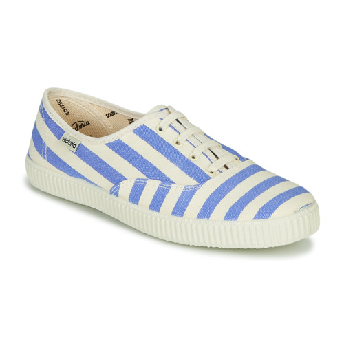 Shoes Women Low top trainers Victoria NUEVO RAYAS White / Blue
